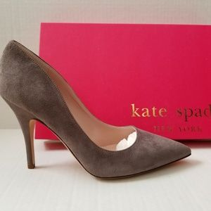 Kate Spade Licorice Suede Pump
